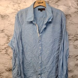G by Guess Button Down Blue Shirt 2XL Preowned